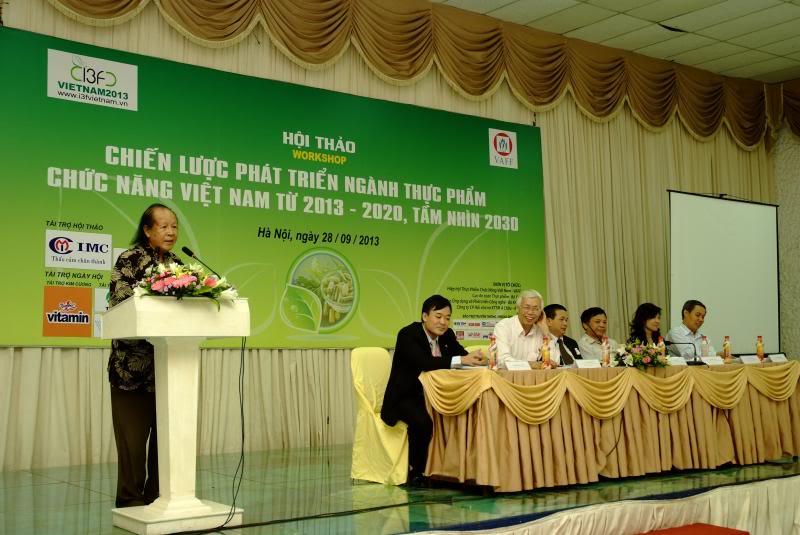 """ội thảo """"Chiến lược phát triển ngành Thực phẩm Chức năng Việt Nam từ 2013 - 2020, tầm nhìn 2030"""