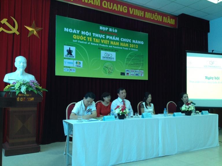 Họp báo Ngày hội Thực phẩm chức năng Quốc tế tại Việt Nam - I3F 2013