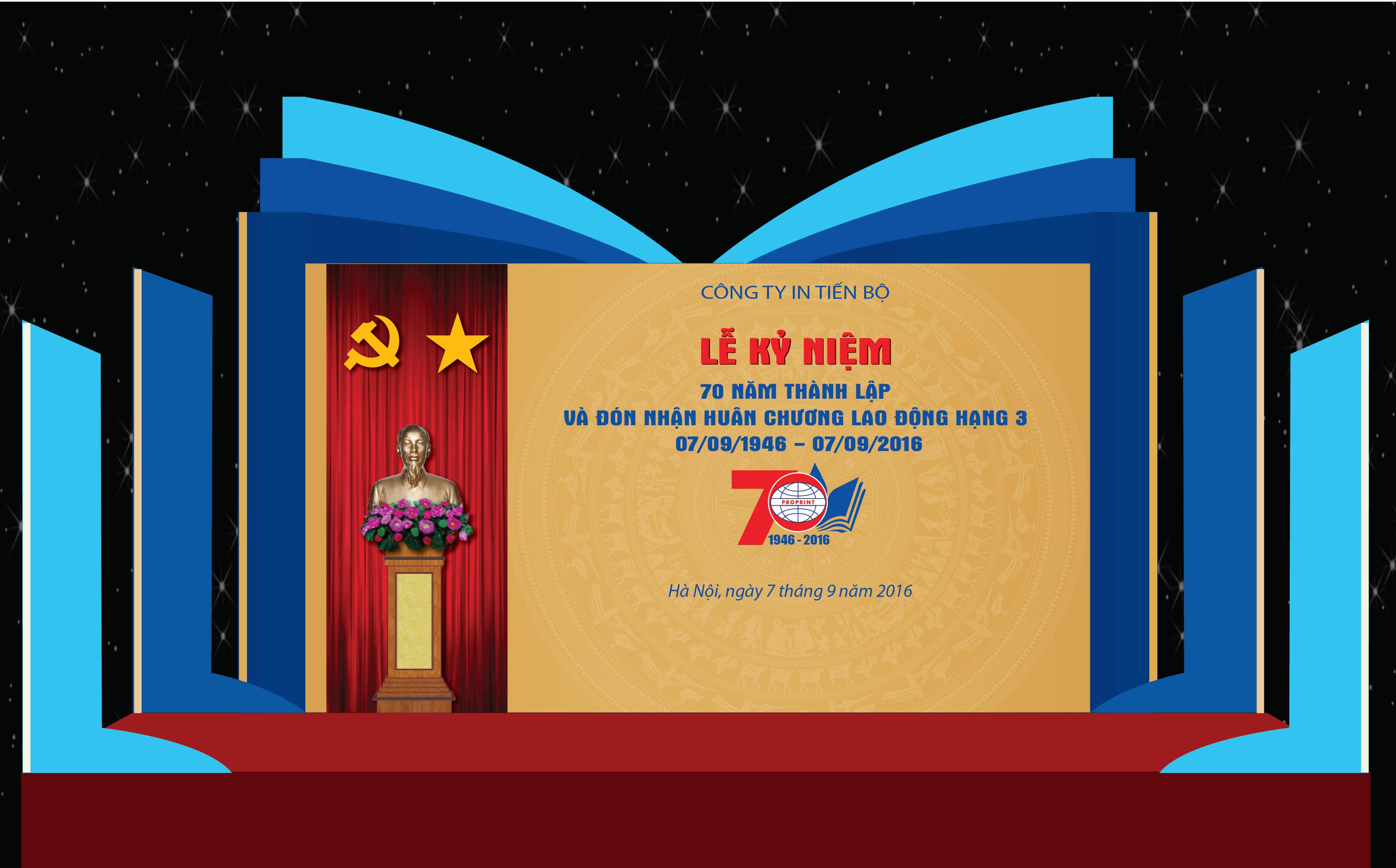 Lễ kỷ niệm công ty In Tiến bộ